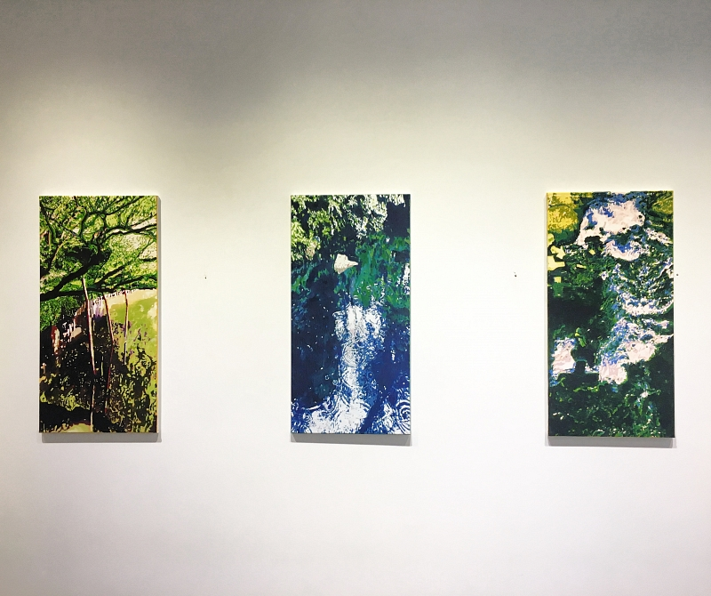 Overview MIZUSHI series, oil on canvas, 3x (40x80cm), 2018